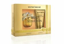 Women'Secret Gold Seduction Gift Set EDP 3.4 oz Body Lotion 6.8 oz