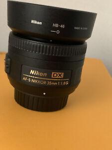 Nikon AF-S NIKKOR 35mm F/1,8G Objetivo - Negro