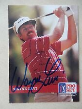 Wayne Levi Autographed 1992 Pro Set Golf Card