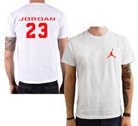 T Shirt Basket Jordan Air 23 maglia maglietta nera bianca rossa personalizzata