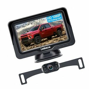 LeeKooLuu LK3 HD 1080P Backup Camera with Monitor Kit OEM Driving Hitch Rear/...