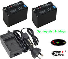 AC+2x Battery for Sony NP-F970 NP-F960 CCD-SC CCD-TR CCD-TRV 7900mAh AUship