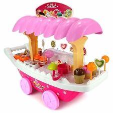 37 piezas de coche de lujo Caramelo Rosa helado carrito para niños batería oprated Sweet Shop