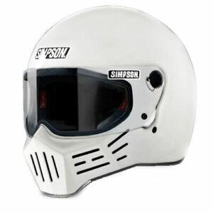 Simpson M30 Bandit Helmet Dot Approved Gloss White All Sizes