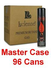 96 Cans of 300 ml Lucienne Near Zero Impurities Lighter Refill Butane Gas Fuel