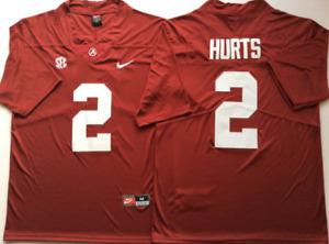 Men's Alabama Crimson Tide Red #2 HURTS Custom Jersey