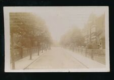 LONDON Winchester Rd Enfield? Used 1909 RP PPC Real photo fault at bottom