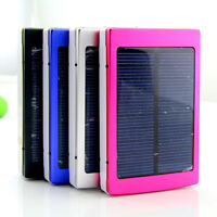 Solar LED Dual USB Empty Box Metal Case for 18650 Power Bank Battery Charger KK