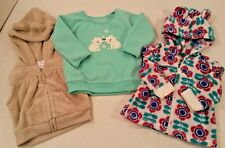 3pc LOT Clothes Carters Old Navy Fleece Shirt Jacket Hoodies Baby Girls 3-6 Mos