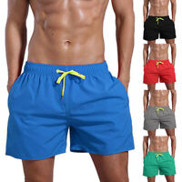 Men Summer Beach Short Pants Gym Sports Fitness Swimming Shorts Swimwear S-2XL
