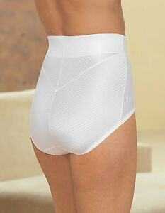 "Glamorise MEDIUM High-Waist FITS 27-28"" Brief Tummy Control SHAPER White NEW $41"