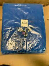Disney Store Mickey And Minnie Mouse Blue Fleece Throw
