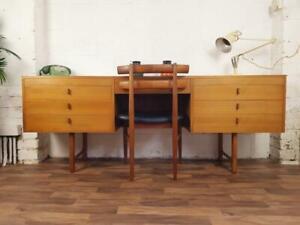 Vintage 60's Teak Desk Mid-Century Danish Style Retro