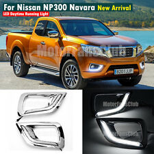 New LED Daytime Running Light Fog Lamp DRL For Nissan NP300 Navara 2015 2016
