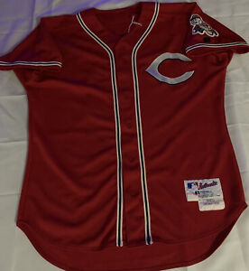 "Brandon Larson ""Game-Used"" 2004 Cincinnati  Cherry-red Jersey w/Authentication"
