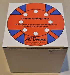 "50 x 125mm 5"" Sanding Discs mixed grit pack"