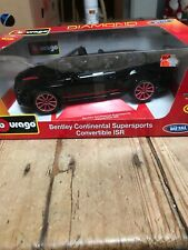 burago Bentley Continental supersports Covertable ISR 1/18 Black Diamond Coll.