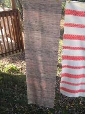 """#77 VTG handmade RUG RAG RUNNER WOVEN  COTTON blend 27""""in X 110"""" INCHES"""
