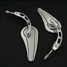 Chrome Raindrop Side Mirrors For Harley Heritage Softail Classic Deluxe Breakout