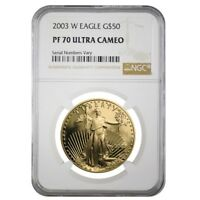 2003 W 1 oz $50 Proof Gold American Eagle NGC PF 70 UCAM