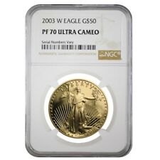 2003 W 1 oz $50 Proof Gold American Eagle NGC PF 70 UCAM