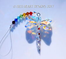m/w Swarovski *Little Shorty Rainbow Dragonfly* Suncatcher Lilli Heart Designs