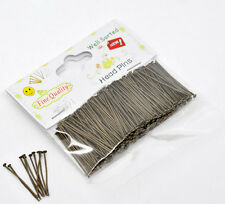 1 paquet (300PCs) bien triés bronze head pins 30x0.7mm (21 gauge)