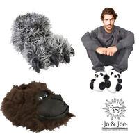 New Mens Slippers Novelty Panda Monkey Funky Slippers  Sizes UK 7 8 9 10 11 12