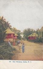 1940s SAN NICHOLAS CEBU Philippines Postcard PECO