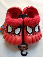 MARVEL ULTIMATE SPIDER-MAN TODDLER ACTIVITY CLOGS Fleece Lining Sz LARGE9/10 NWT