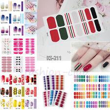 Tiras De Esmalte de uñas envuelve Pegatinas láminas de decoración Pegatinas de Uñas Falsas Completas Hazlo tú mismo