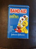 Sesame Street Band-AidJohnson & Johnson Bandage Tin~Empty-No Bandages