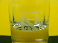 """""""B"""" Shot Glass 4"""" Tall Etched Clear Southwest Symbol"""