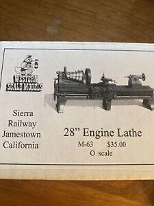 "Western Scale Models, 28"" Engine Lathe O Scale NIB M-63 Kit"