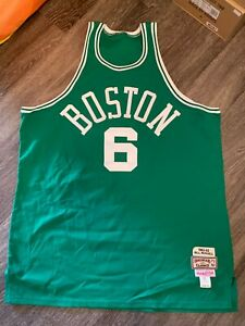 100% Authentic Bill Russell Mitchell Ness 1962-63 Celtics Jersey Size 54 Mens