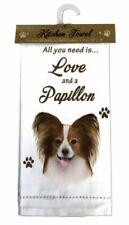 Papillon Dog Cotton Kitchen Dish Towel