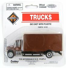 1:87 Scale International 2-Axle Drywall Box Van - Brown - Boley #4102-BN