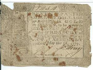 1779 Colonial Virginia $7 Spanish Milled Dollars VA166 Currency Very Rare