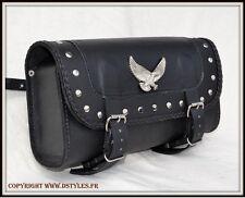 bolsa tipo rulo maleta de piel Águila para Kustom harley softail sportster