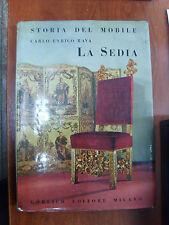 Storia del Mobile Carlo Enrico Rava LA SEDIA Gorlich 1964 antiquariato illustr.