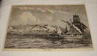 1876 magazine engraving ~ VIEW OF ALGIERS