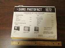 Sams Photofact Set No. 1072 December 1969