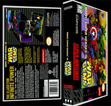 Marvel War of the Gems - SNES Reproduction Art Case/Box No Game.