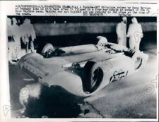 1968 Daytona Auto Race Hans Herrman Crashes Porsche 907 Press Photo