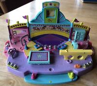 Rare Vintage 1999 Mattel Polly Pocket Gymnastic Magic Floor Exercise Play Set