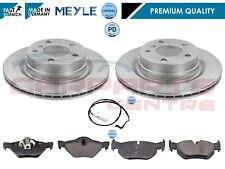 FOR BMW E90 E91 320D 320 REAR PLATINUM BRAKE DISCS PADS WEAR SENSOR 04- 300mm