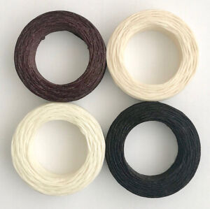 Waxed Linen Thread 22m Black Brown Natural White - jewellery upholstery leather