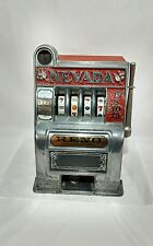 Vintage Reno Nevada Coin Slot  Mechanical Bank Toy Machine Read entire listing