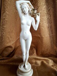 Große Alabaster + Patina Frau Akt Erotik  Griechenland Handarbeit (A02/10)