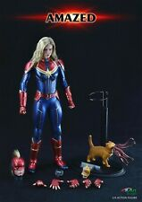 BY-ART 1/6 BY-012A Captain Marvel Action Figure Set With 2 Head & Accessories